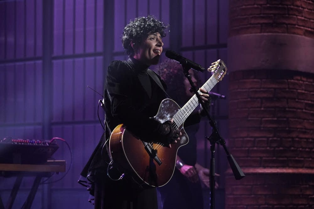 Emily King performs on 'Late Night with Seth Meyers' on NBC
