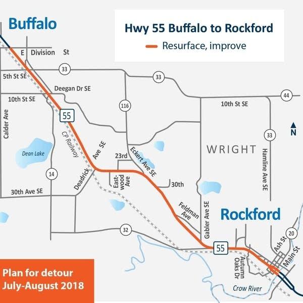 Highway 55 Buffalo to Rockford