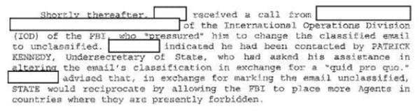 FBI investigative notes