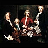 Possible Portrait of Bach with his three sons.