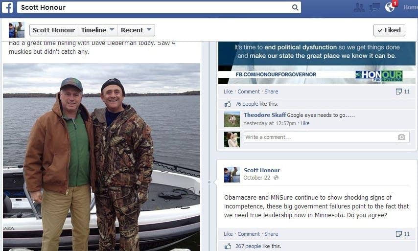 Scott Honour's Facebook post