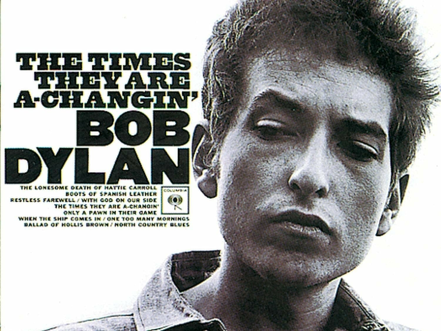 Bob Dylan 'Times They Are A-Changin'' album cover.