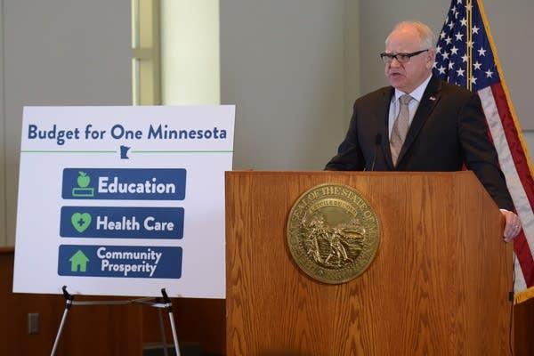 Gov. Walz state budget proposal
