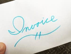 Wedding invoice