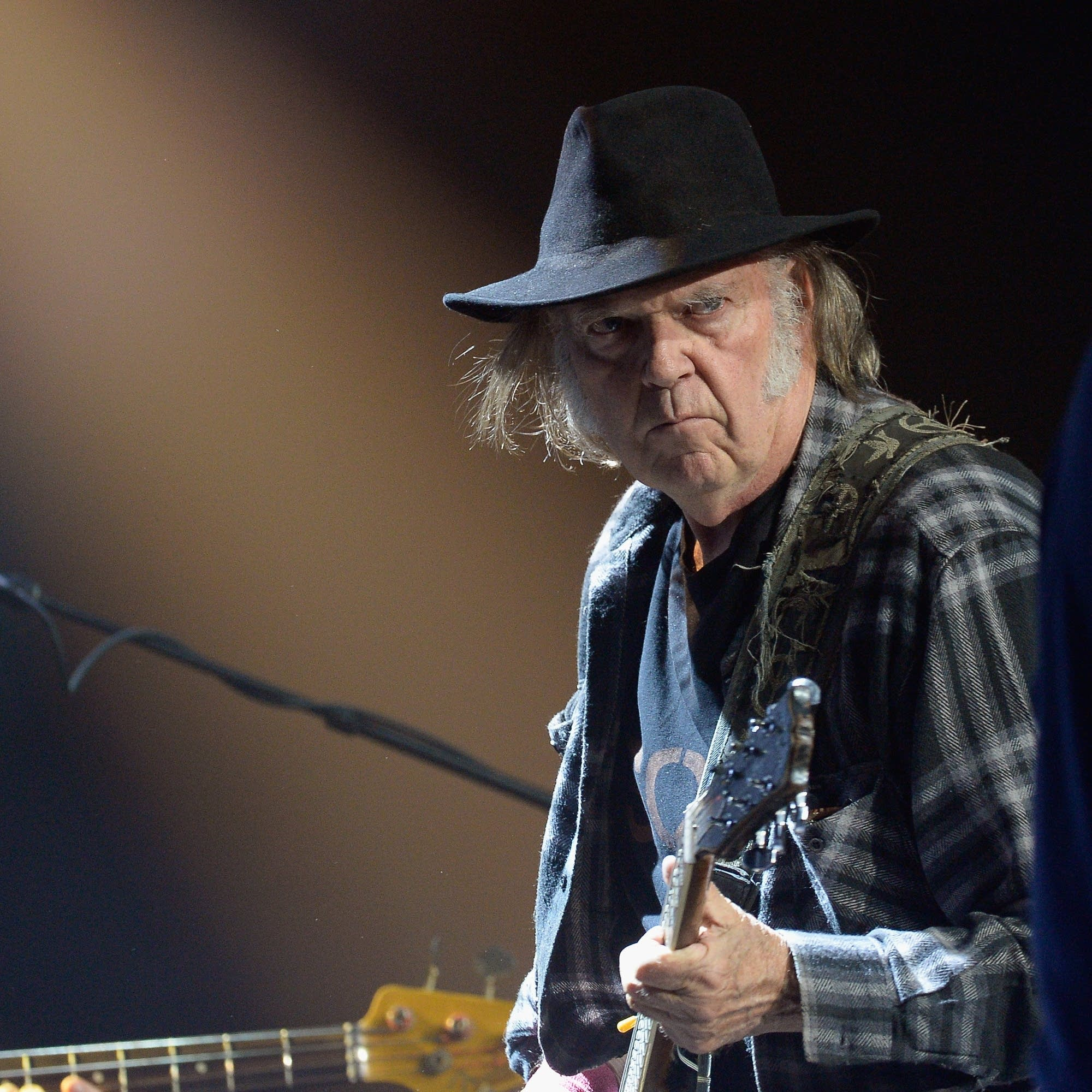 Neil Young performs in Hollywood in 2016.