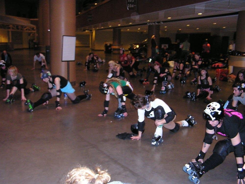 RollerGirls at practice