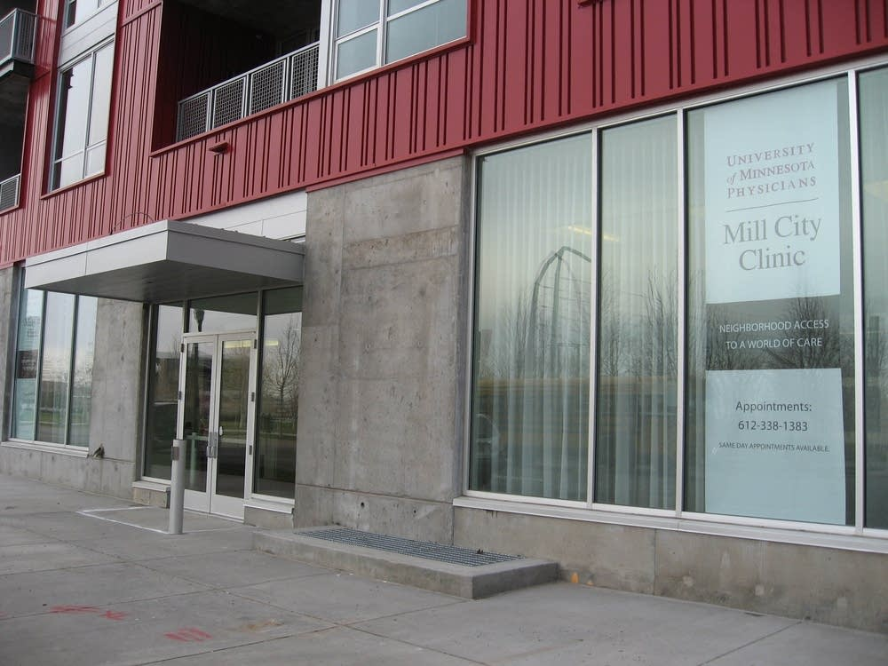 The front entrace of the new Mill City Clinic