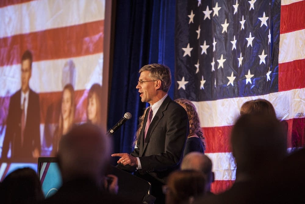 Erik Paulsen celebrates his re-election.