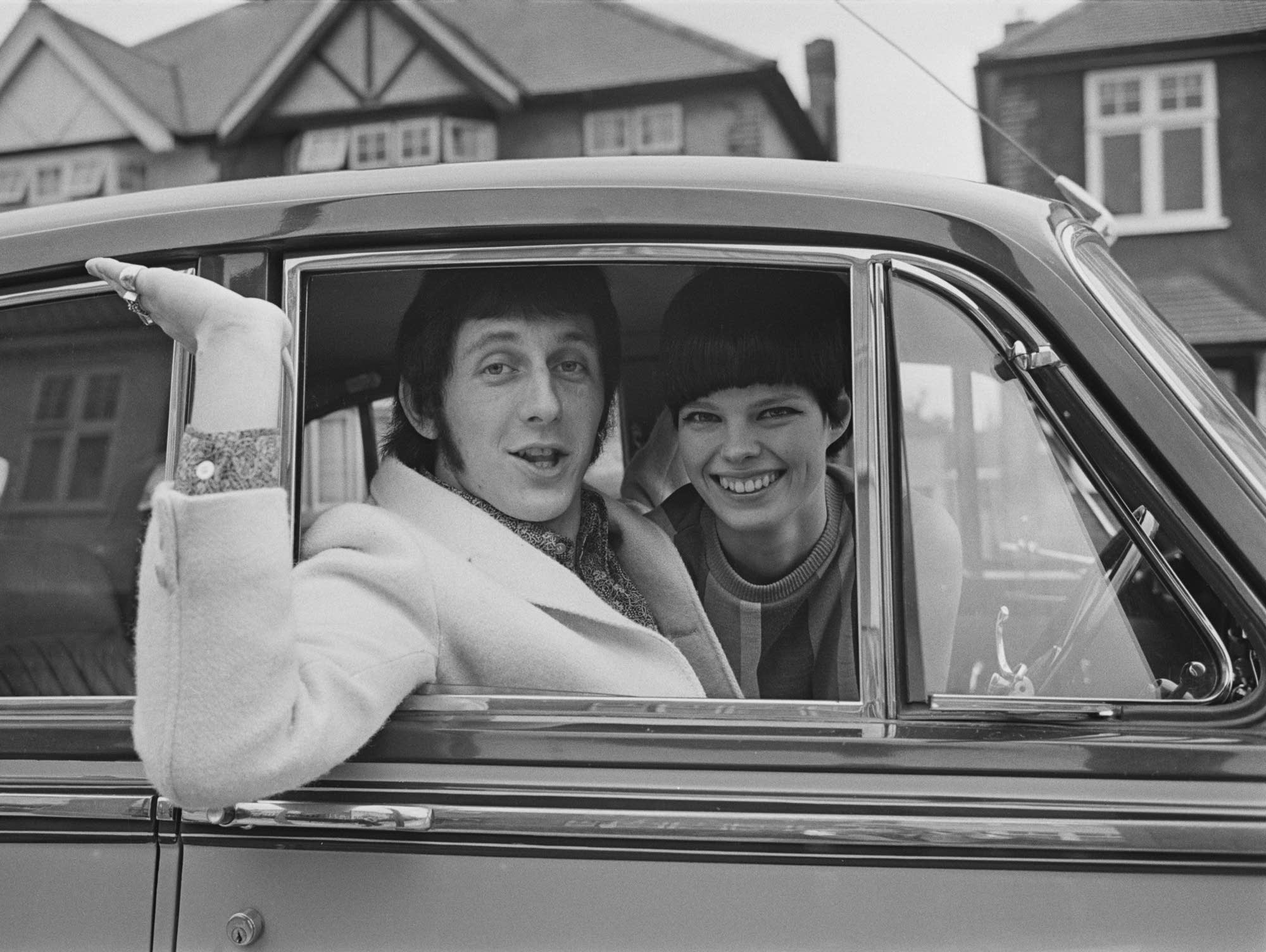 John Entwistle with his first wife, Alison Wise, in 1967.