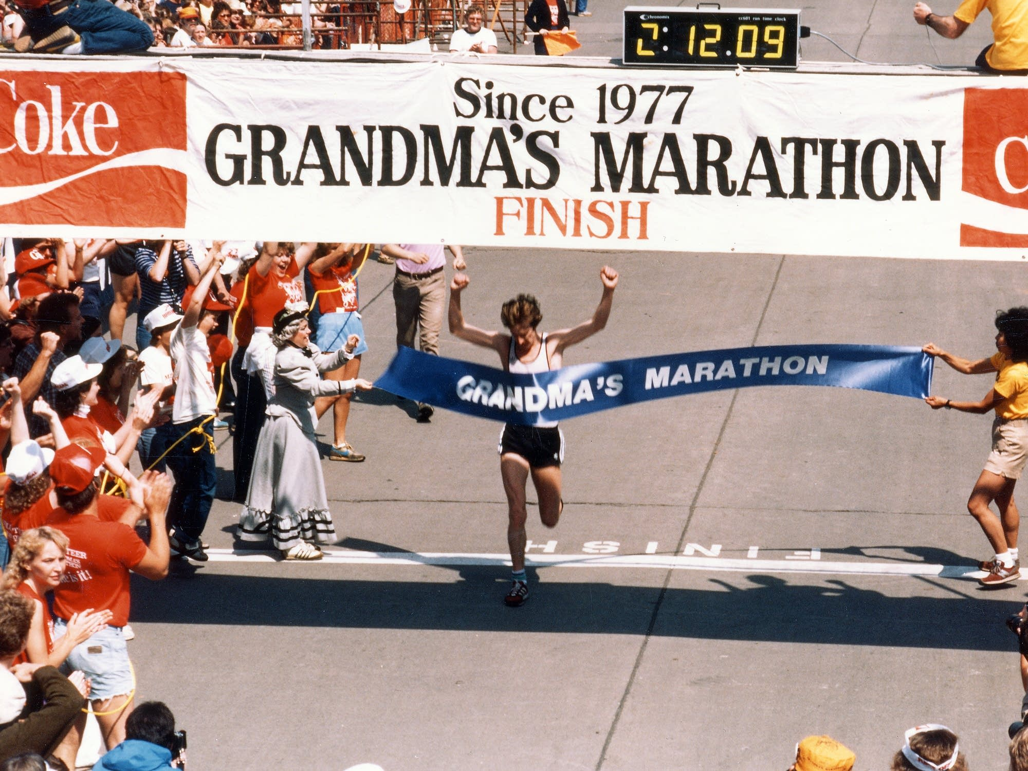 The early days of Grandma's marathon.