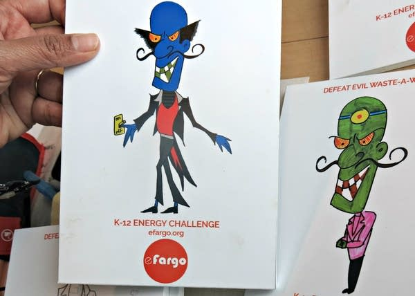 Energy wasting characters designed by school kids