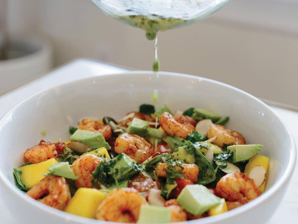 Grilled Shrimp and Mango Salad with Cilantro-Lime Vinaigrette
