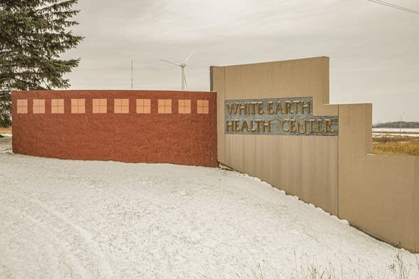 A sign reads White Earth Health Center