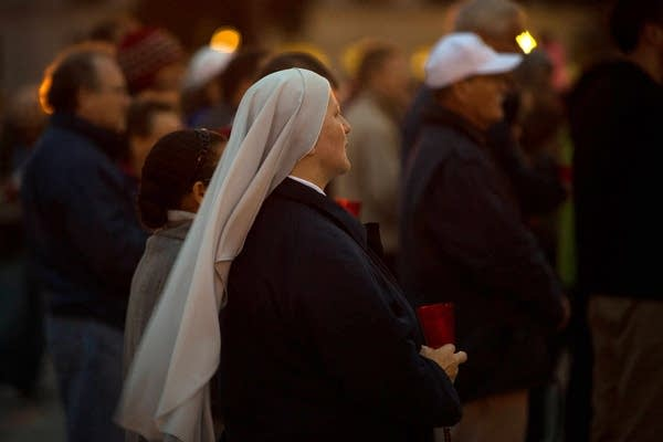 Rosary procession