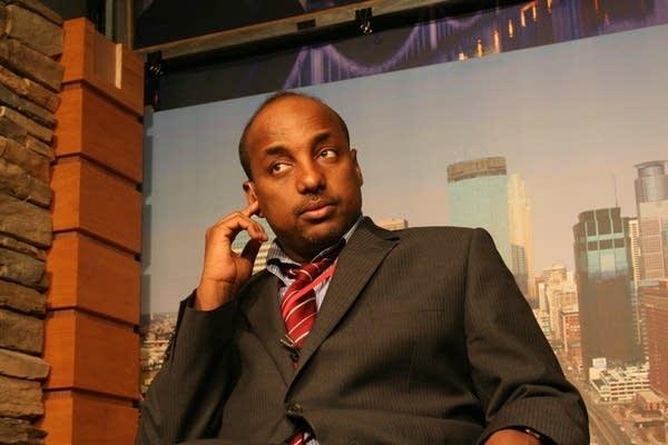Omar Jamal prepares for a TV appearance