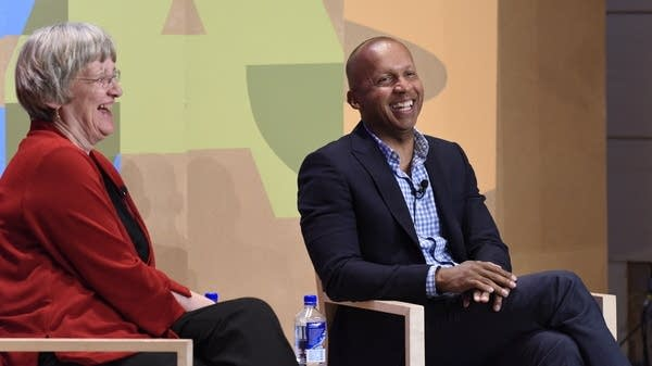 Drew Faust and Bryan Stevenson