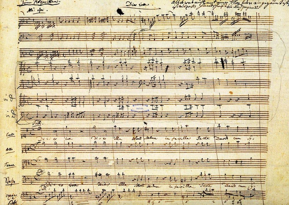Mozart Requiem Manuscript: Dies Irae