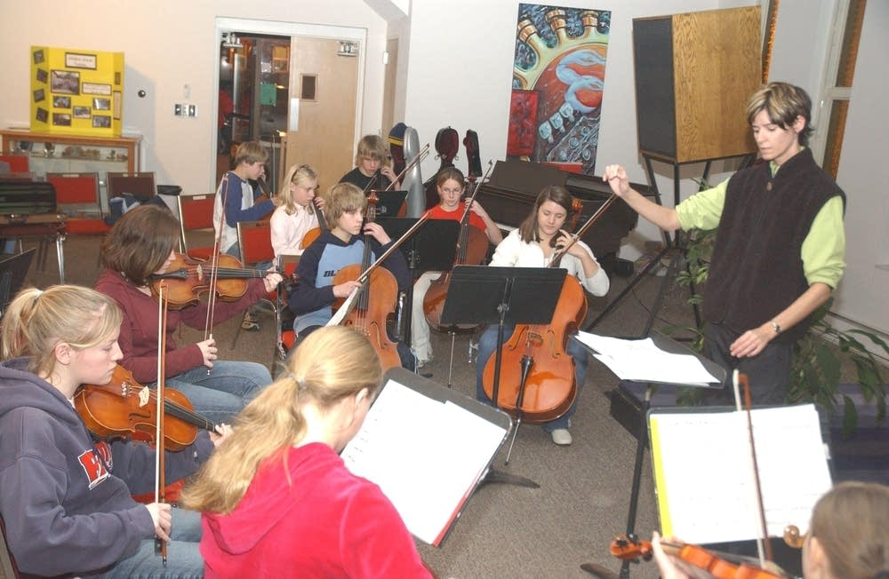 Everett with Youth Orchestra