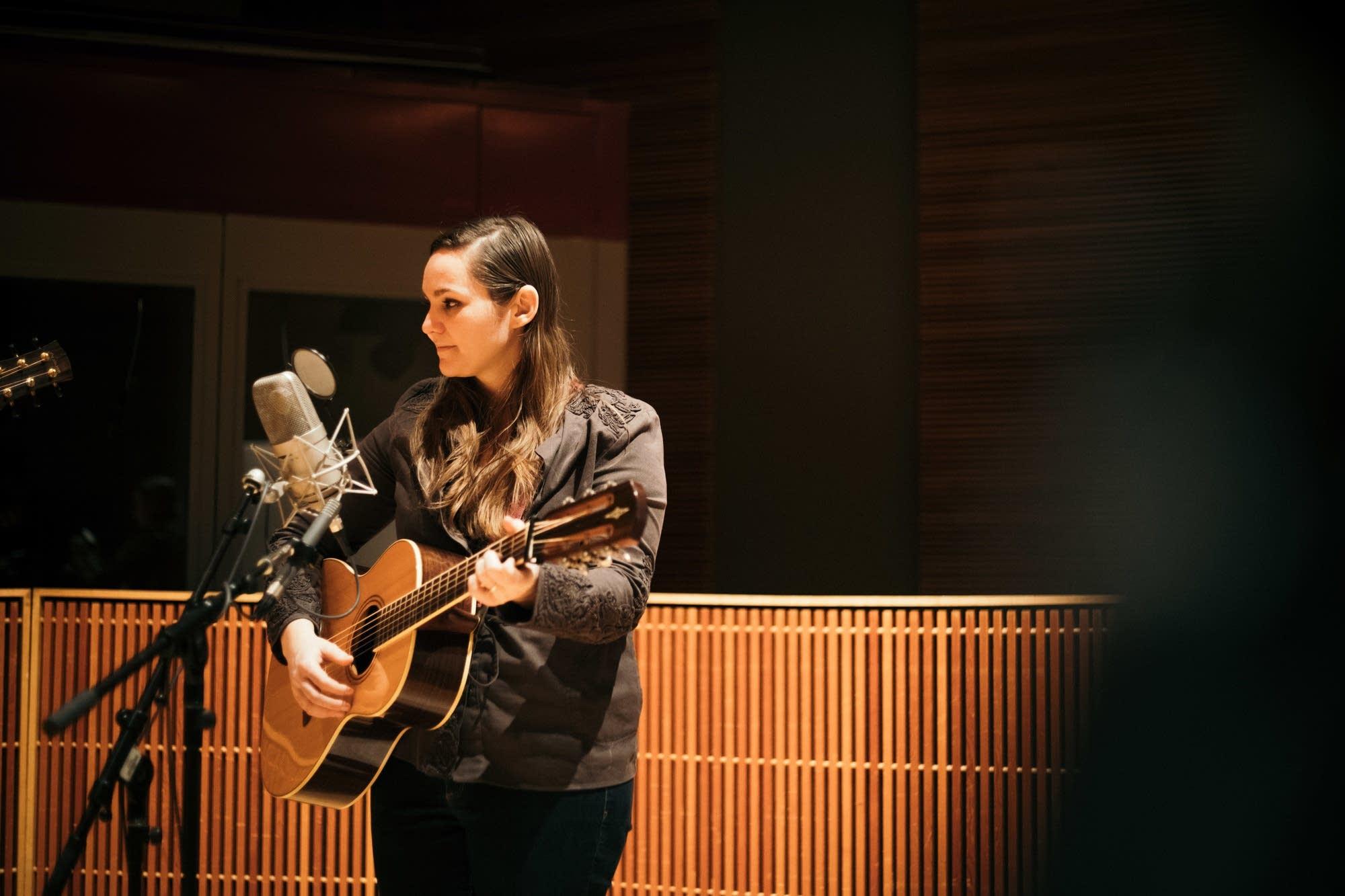 Letitia VanSant performs in the Radio Heartland studio