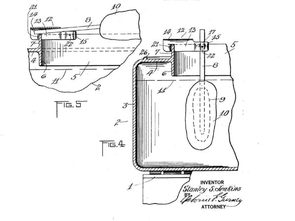 A close-up of U.S. Patent 1706491A