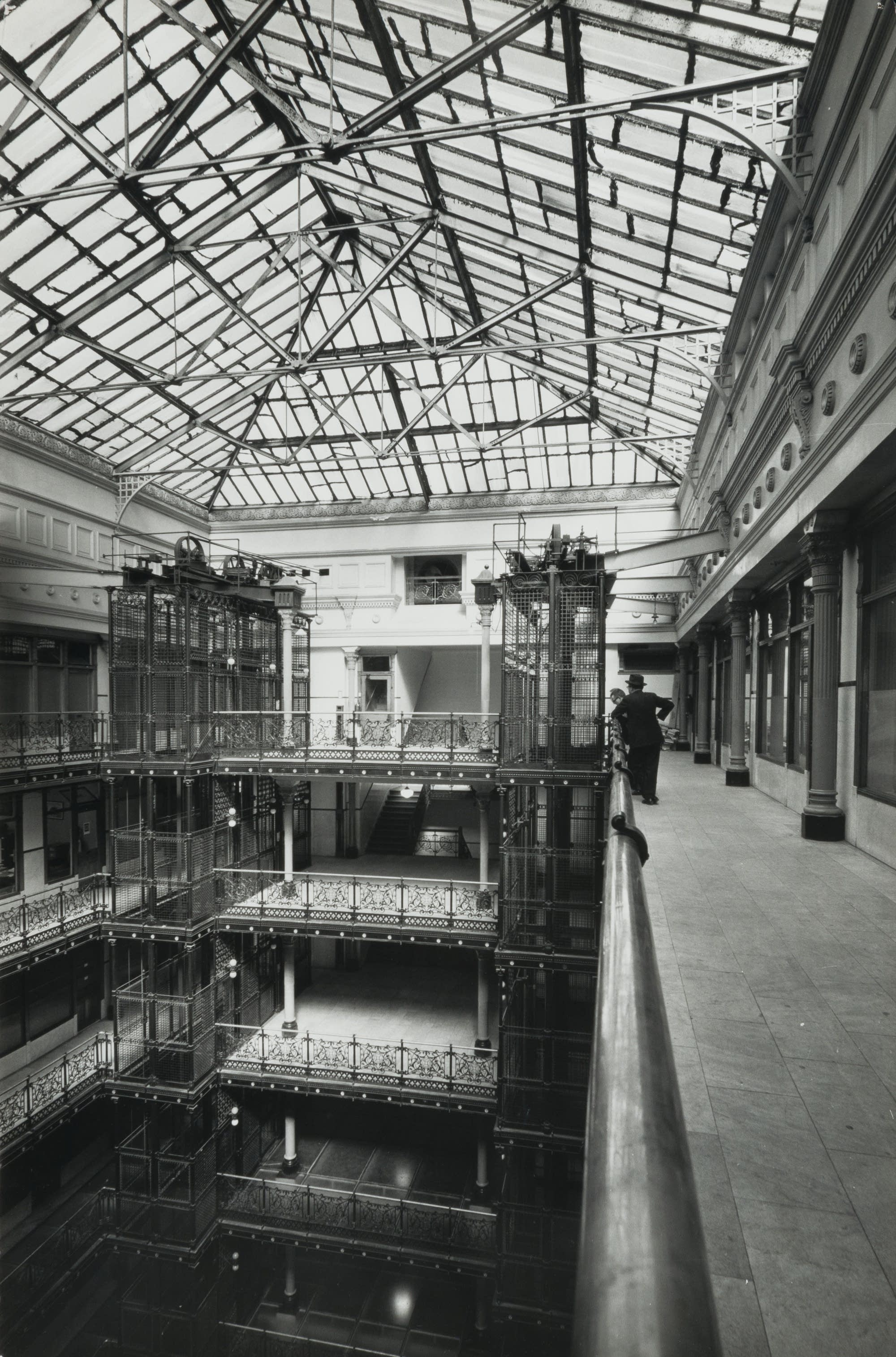 Skylight from the 12th floor of the Metropolitan Building, 1961