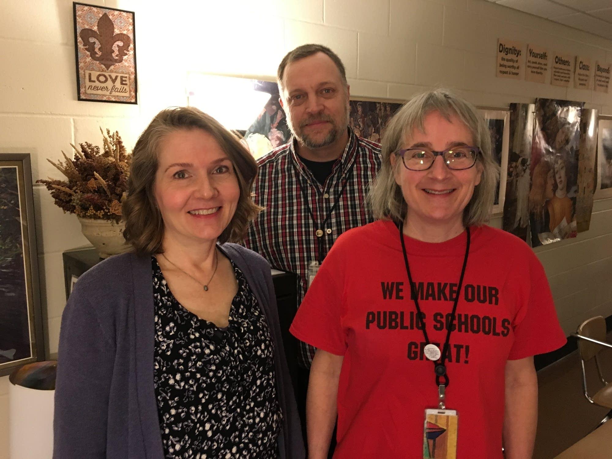 Kristin Warmanen, Stu Sorenson and Susan van Druten.