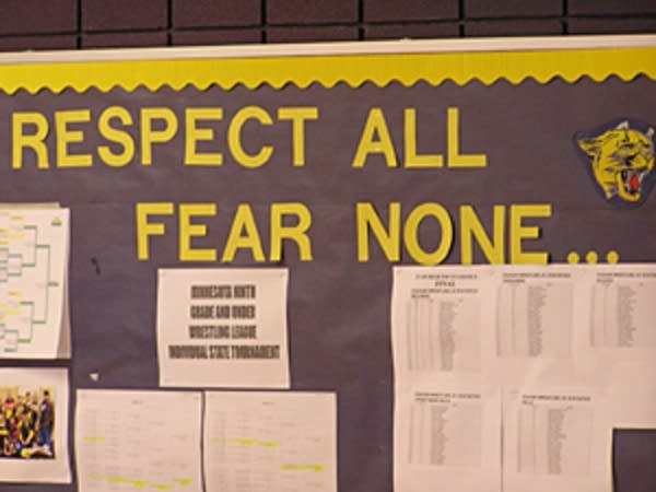 Classroom sign at Waubun School