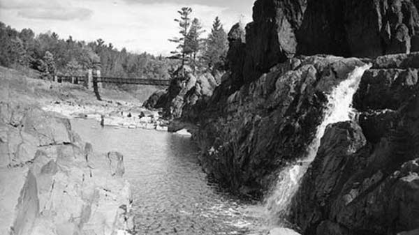 Swinging Bridge, Jay Cooke State Park, 1959