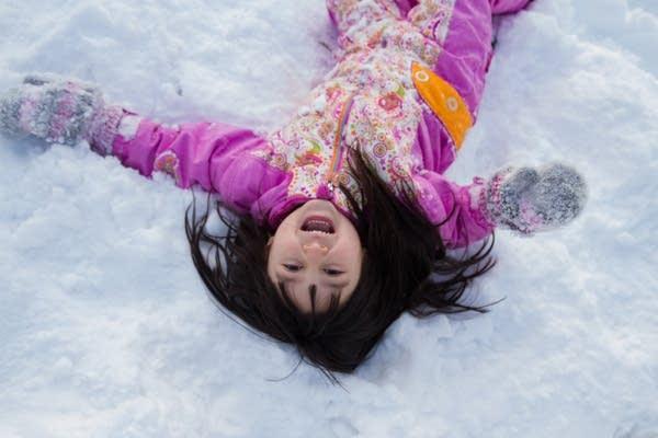 Enjoying the snow.