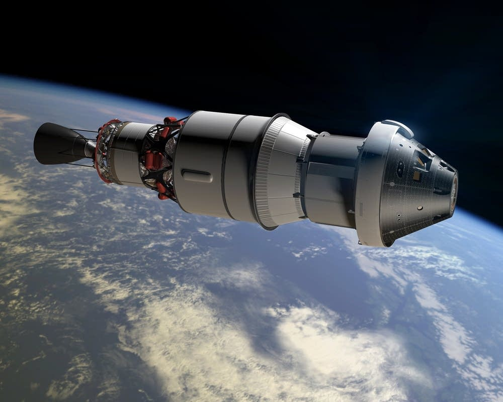 Rendering of Orion space capsule