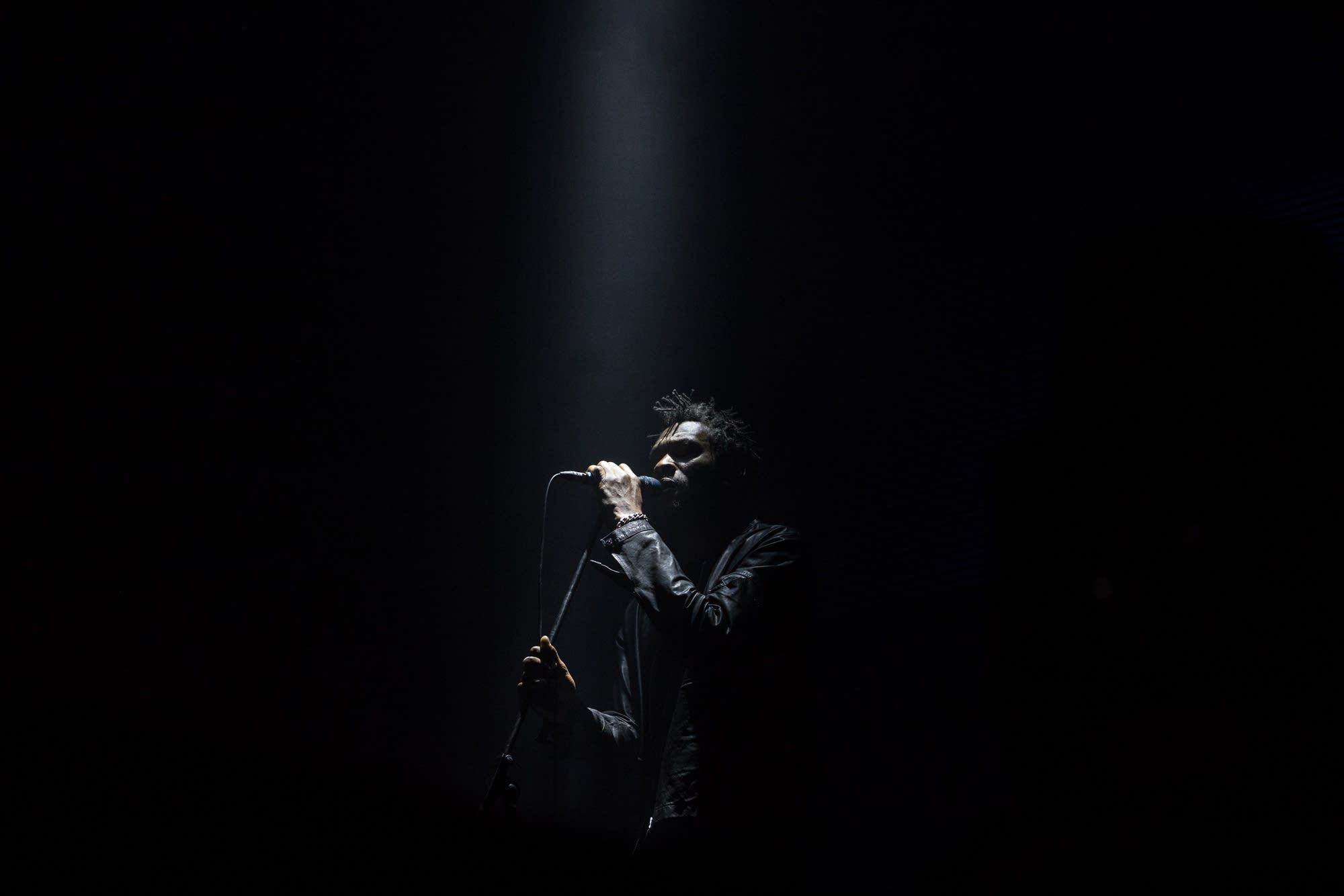 Massive Attack perform in Hong Kong on Nov. 19, 2017