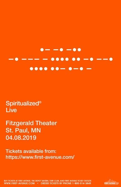 Spiritualized Fitzgerald Theater Poster
