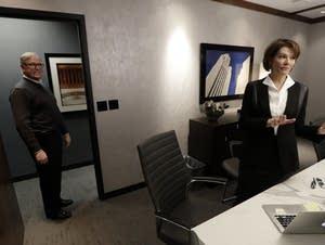 Kim Robak, a Democrat, and her husband, Bill Mueller, a Republican