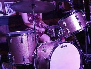 This August 2018 photo shows Sarah Papenheim at a drum set