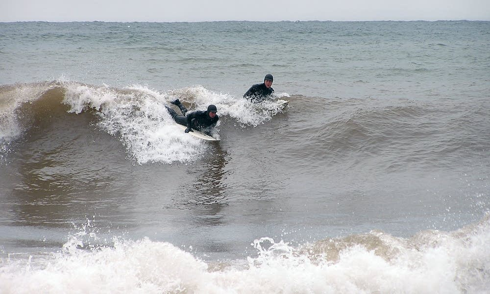 Surfing in foul weather