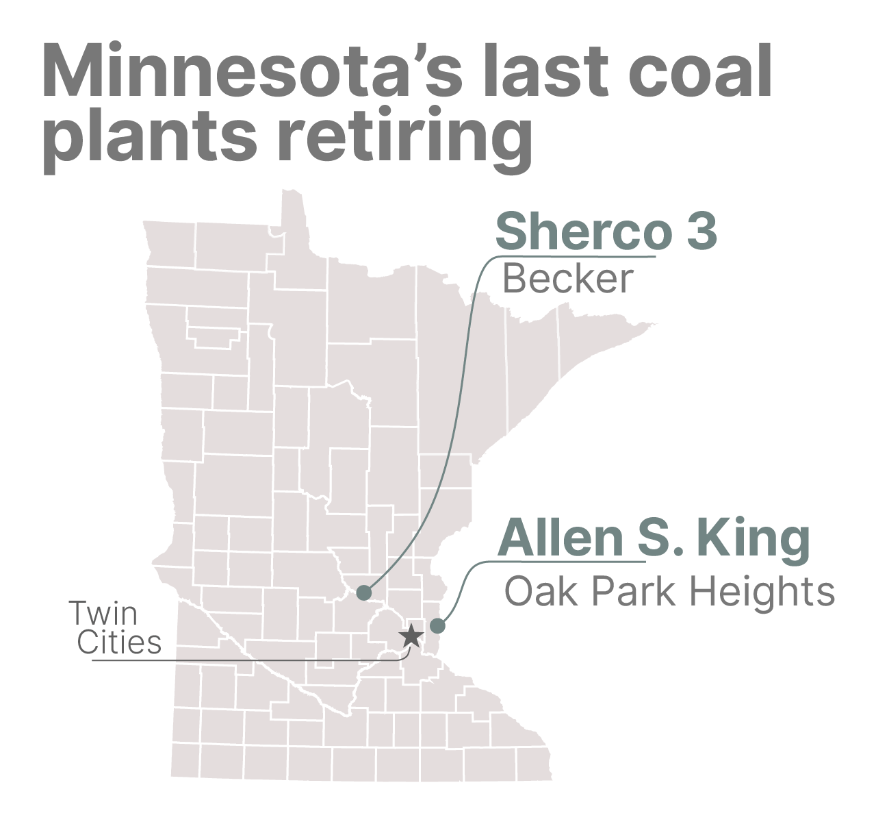 The last two coal plants in Minnesota are shut down.