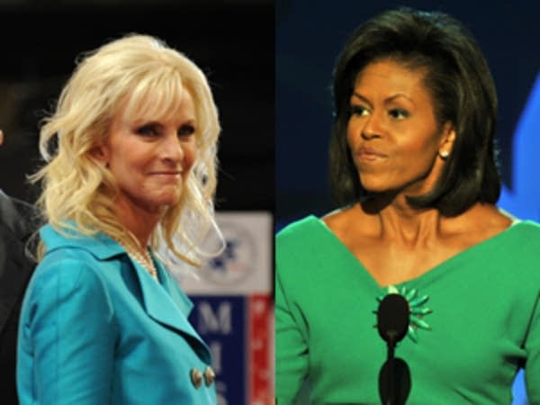 Cindy McCain and Michelle Obama