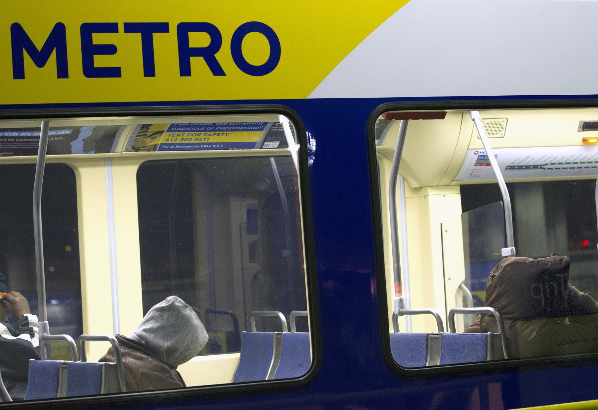 The light rail has become a haven for the homeless late at night.