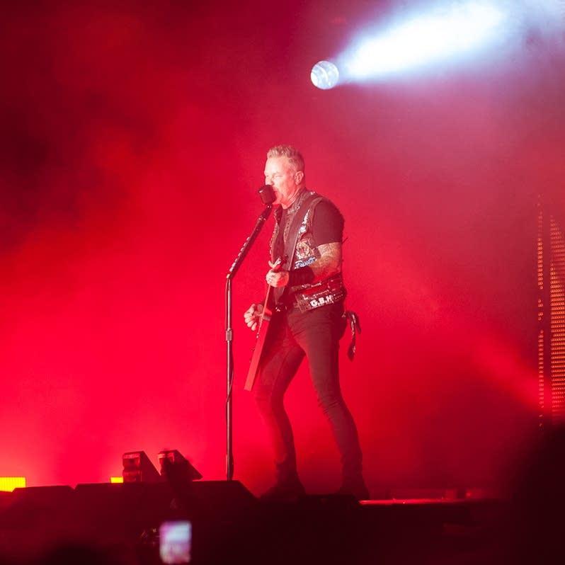 James Hetfield performs with Metallica.