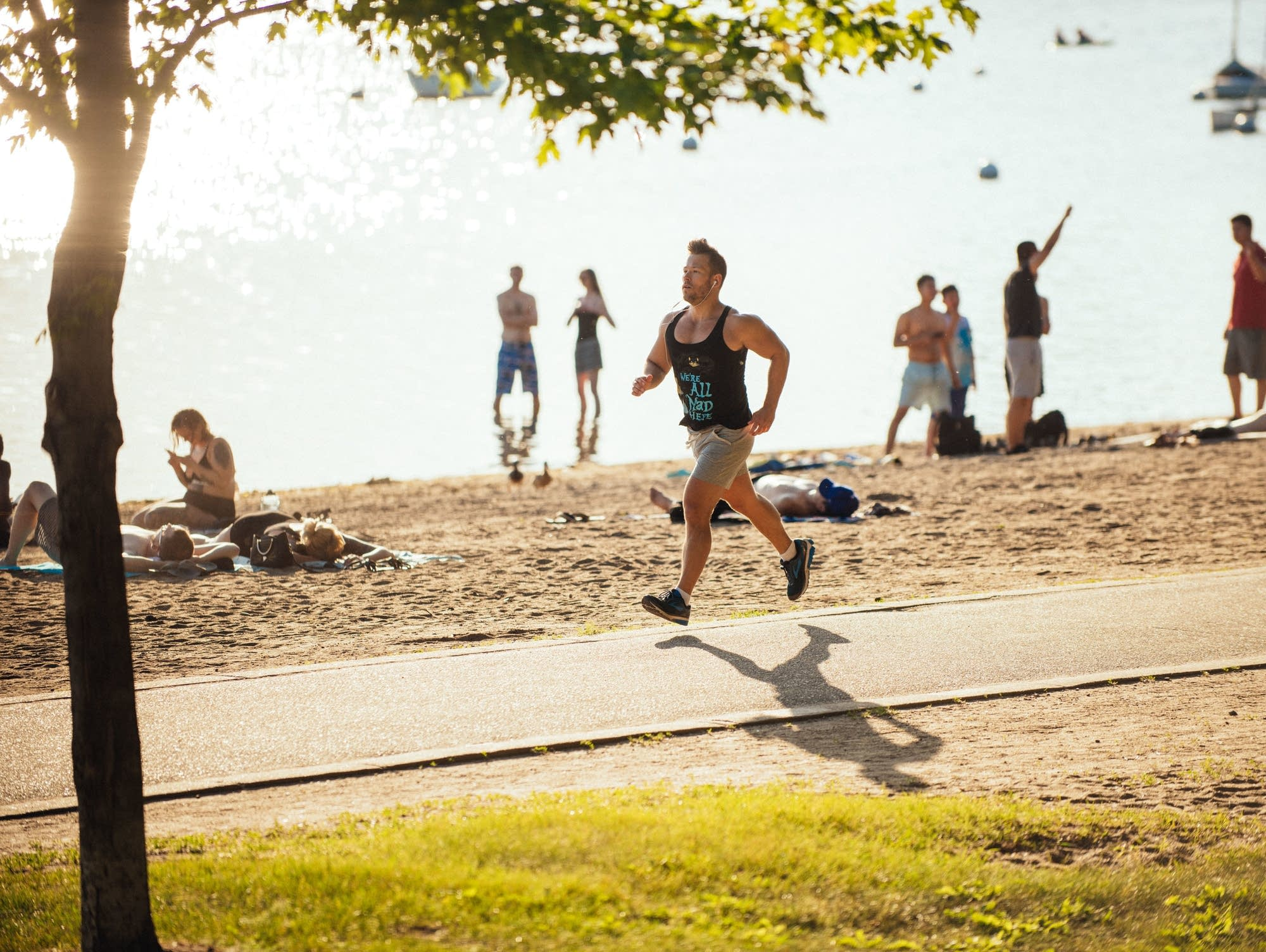 Sven Sundgaard jogs to classical music every day.