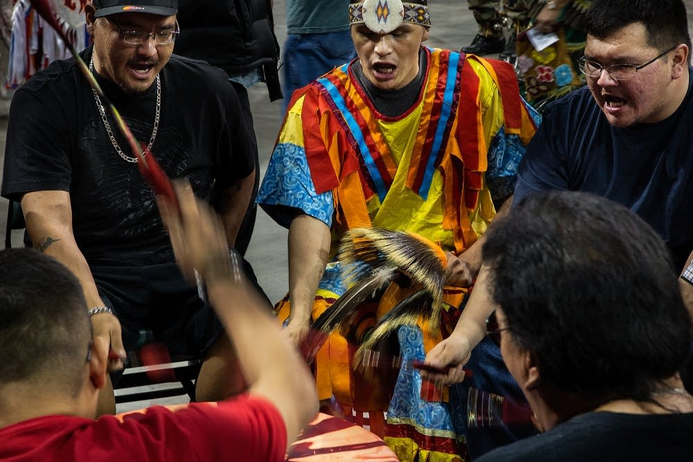 Twenty-four drum groups took turns performing.