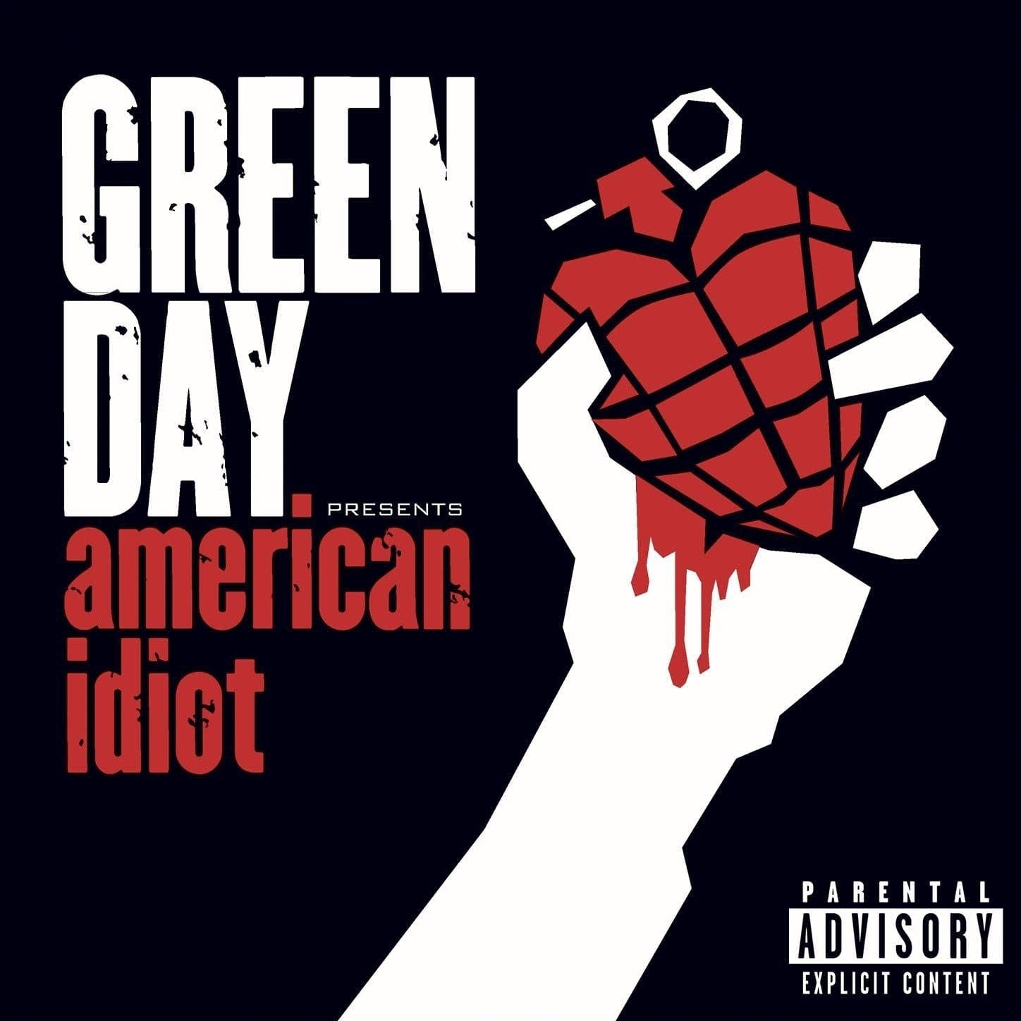 Cover art for Green Day's 'American Idiot.'