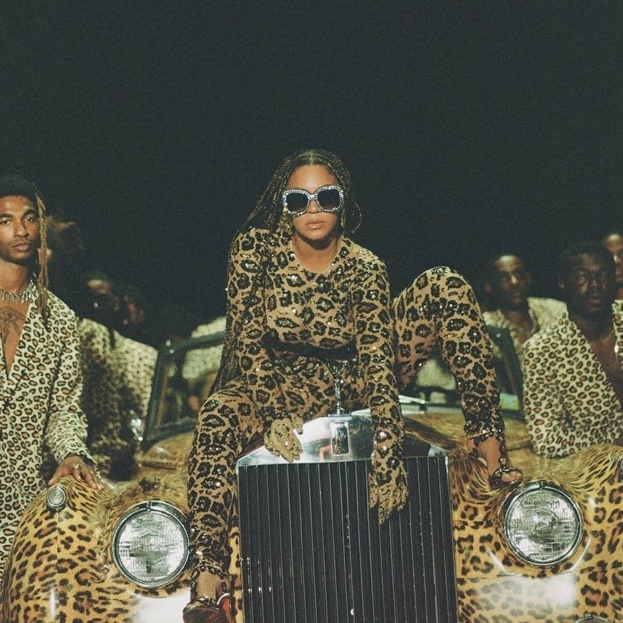 Beyonce, in a promotional still for her visual album 'Black Is King.'
