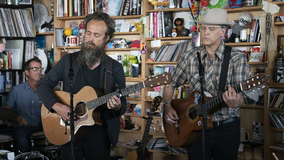 Calexico and Iron & Wine play a Tiny Desk concert at NPR