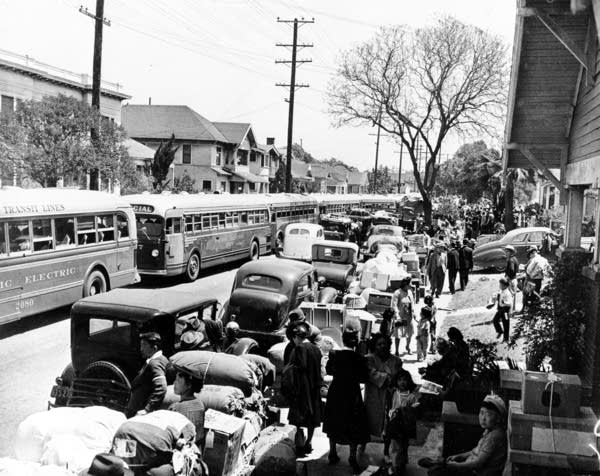 The evacuation of Japanese civilians during World War II