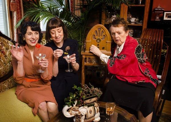 Vanessa Gamble, Sue Scott and Candace Barrett Birk in Little Wars.