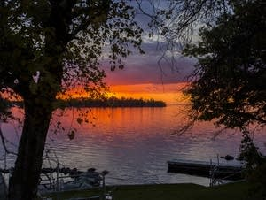 Sunset over Rainy Lake
