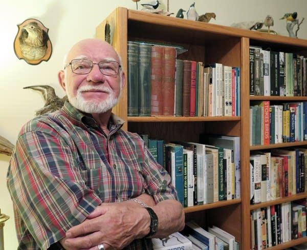 Bob Janssen in his home in Golden Valley.