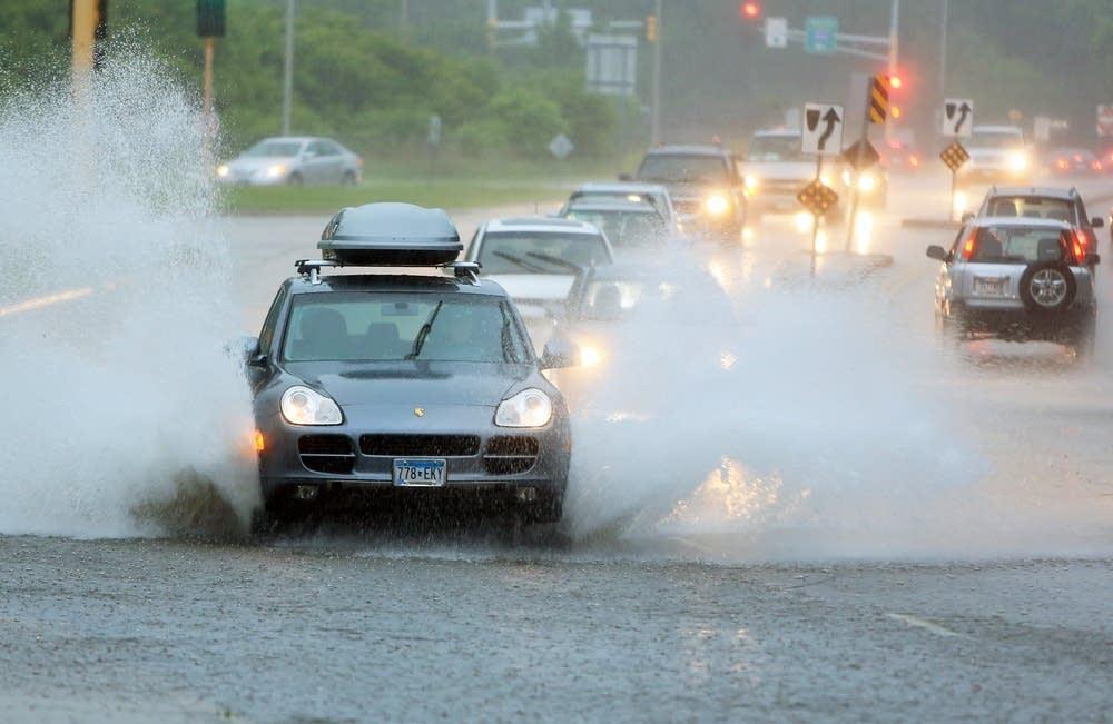 Street flooding along W. 50th St. near Edina City