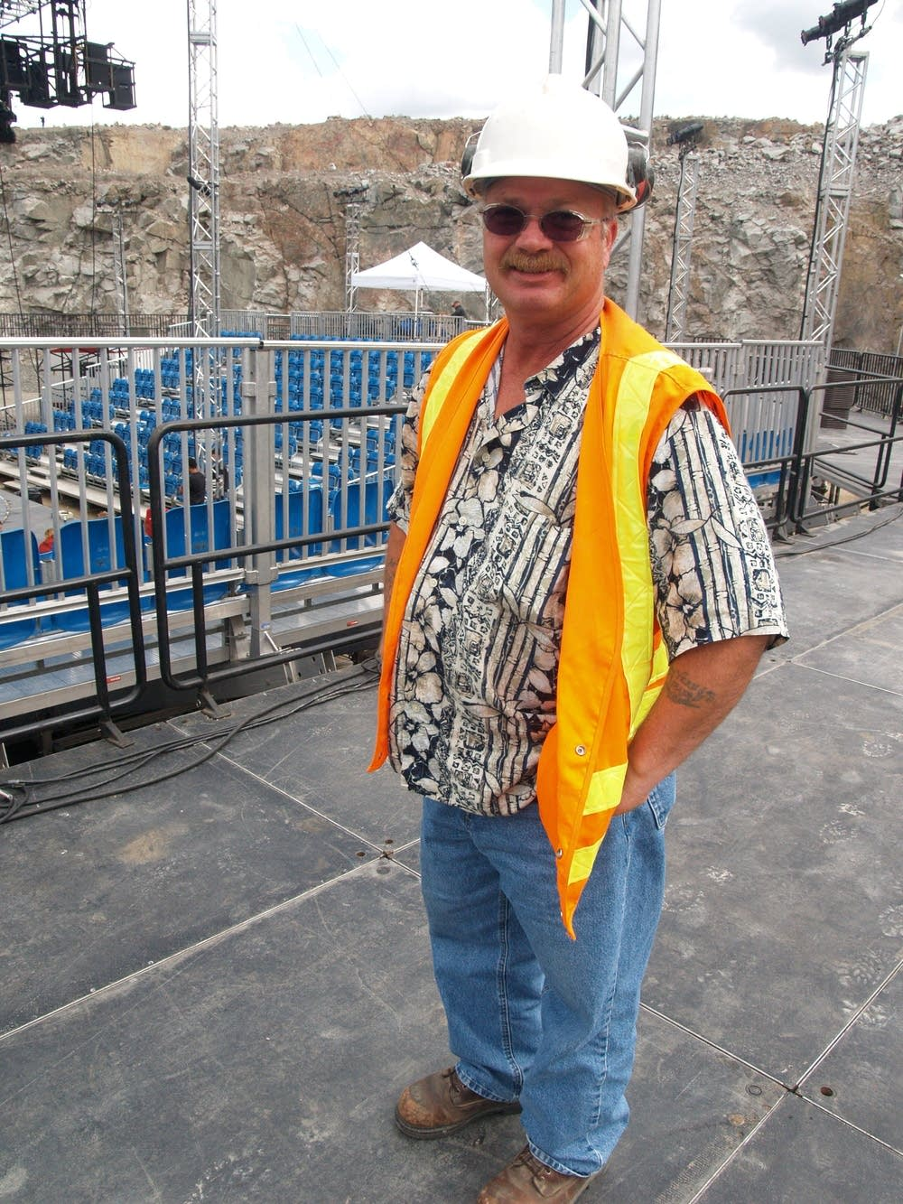 Rainbow Quarry site manager Mike Reinert